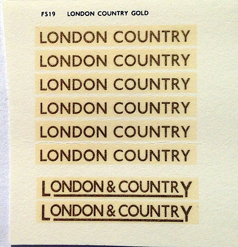 Fleet Name Sets   London Country