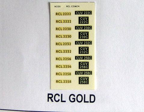Gold RCL2224, RCL2230, RCL2232, RCL2256, RCL2258