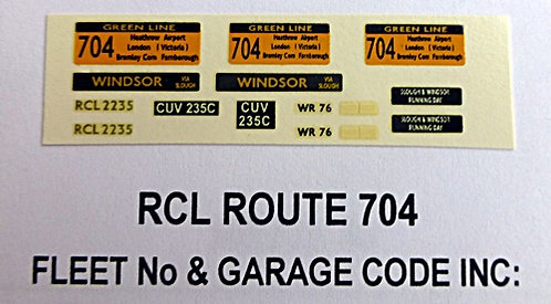 RCL Green Line Blinds Route 704