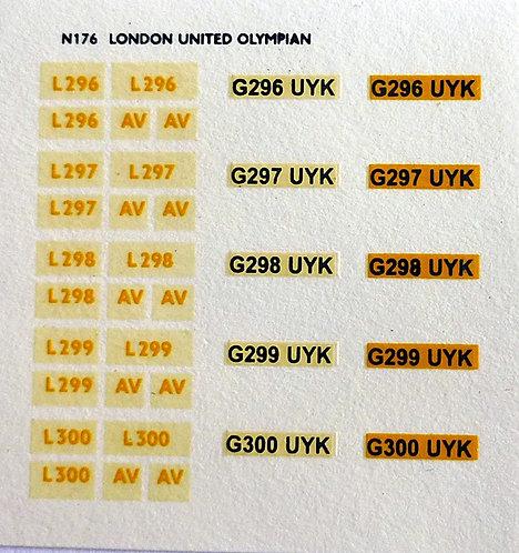 White L296, L297, L298, L299, L300 (London United)