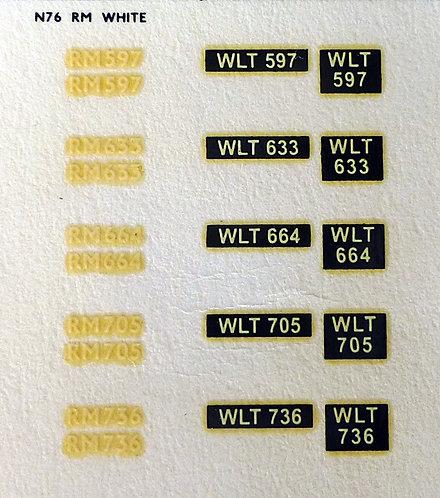 White RM597, RM633, RM664, RM705, RM736