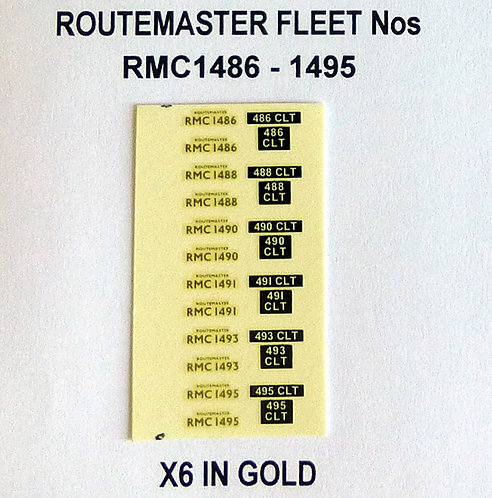 Gold RMC 1486, 1488, 1490, 1491, 1493, 1495
