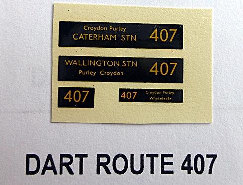 Dart Route 407