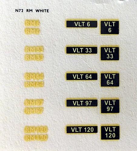 White RM6, RM33, RM64, RM97, RM120