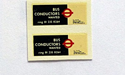 Bus Conductors Wanted