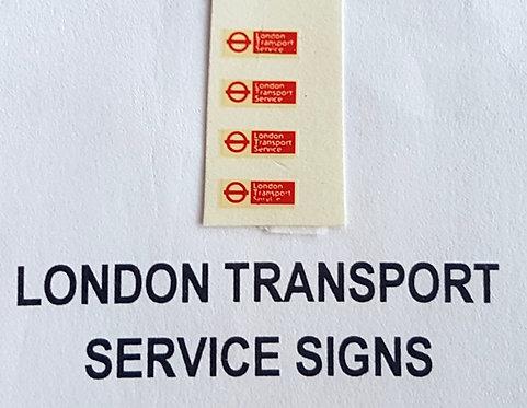 Misc:  L.T. Service Signs