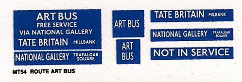 M / T Route ART BUS
