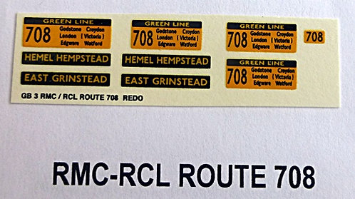 RMC/RCL Green Line Blinds Route 708