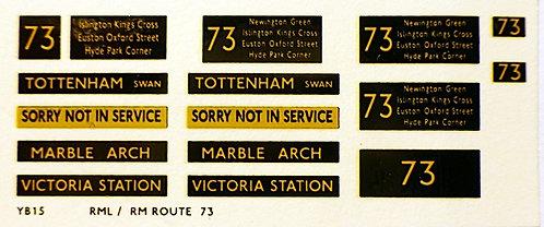 Modern RM/RML  Route 73