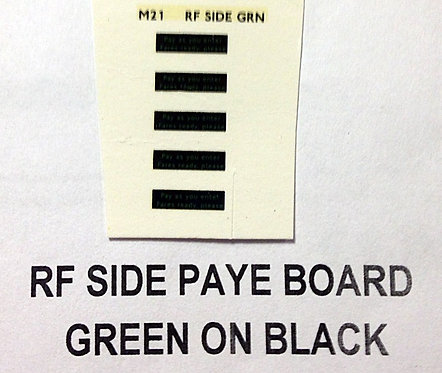 Misc:  Pay As You Enter Side Board