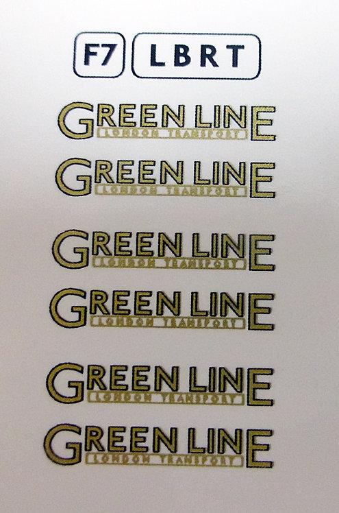 Fleet Names  Green Line Underlined