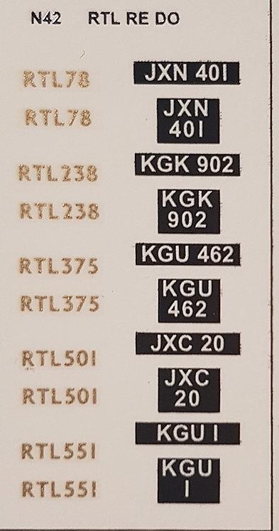 Gold RTL501, RTL78, RT238, RTL375, RTL551