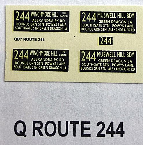 Q S/D Route 244