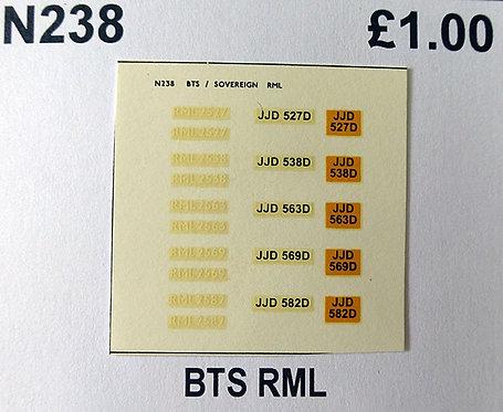 White RML2527, RML2538, RML2563, RML2569, RML2582