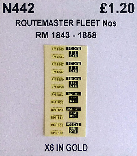 Gold RM 1843, 1847, 1850, 1852, 1854, 1858