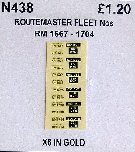 Gold RM 1667, 1677, 1685, 1696, 1700, 1704