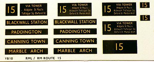 Modern RM/RML  Route 15