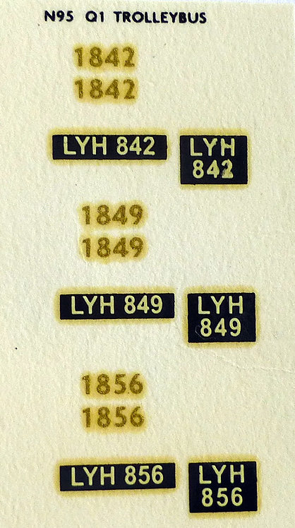 Gold Trolleybus 1842, 1849, 1856