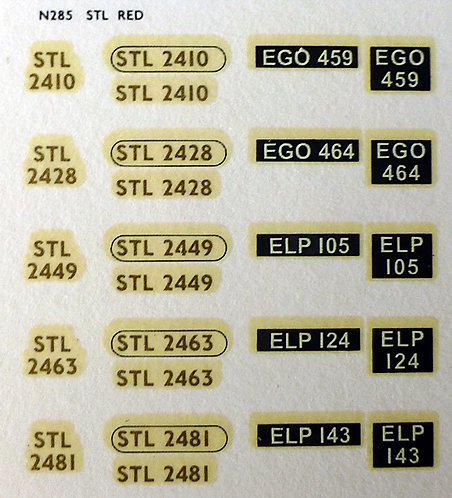 Gold STL2410, STL2428, STL2449, STL2463, STL2481