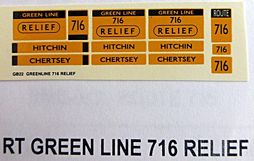 RT Green Line Blinds Route 716