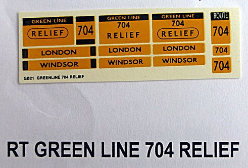 RT Green Line Blinds Route 704