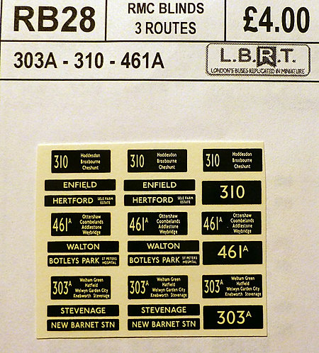 Set Of RM Blinds (303A, 310, 461A)