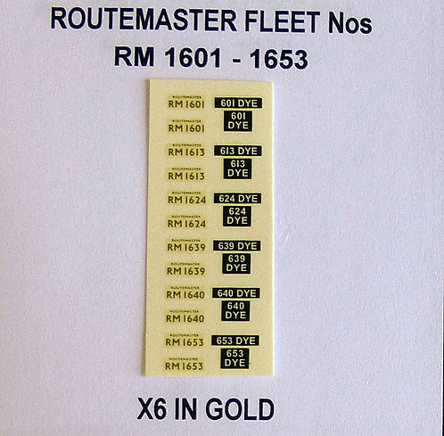 Gold RM 1601, 1613, 1624, 1638, 1640, 1653