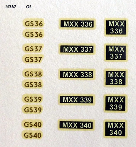 Gold GS36, GS37, GS38, GS39, GS40