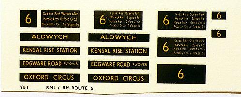 Modern RM/RML  Route 6