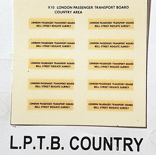 Legal Lettering  LPTB Country
