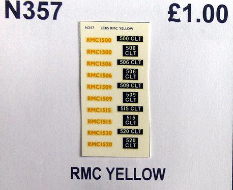 Yellow RMC1500, RMC1506, RMC1509, RMC1515, RMC1520