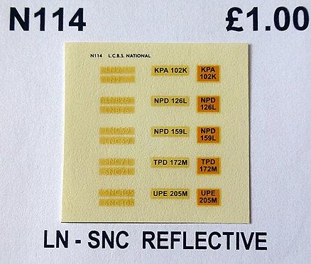 White LN2, LNB26, LNC59, SNC71, SNC105