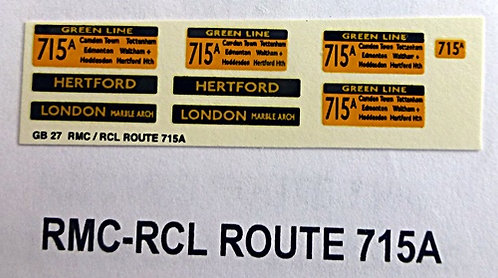 RMC/RCL Green Line Blinds Route 715A