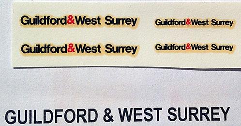 Fleet Name Sets  Guildford & West Surrey