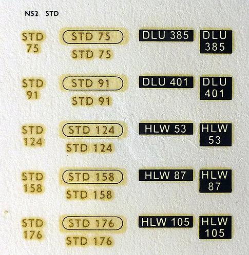 Gold STD75, STD91, STD124, STD158, STD176