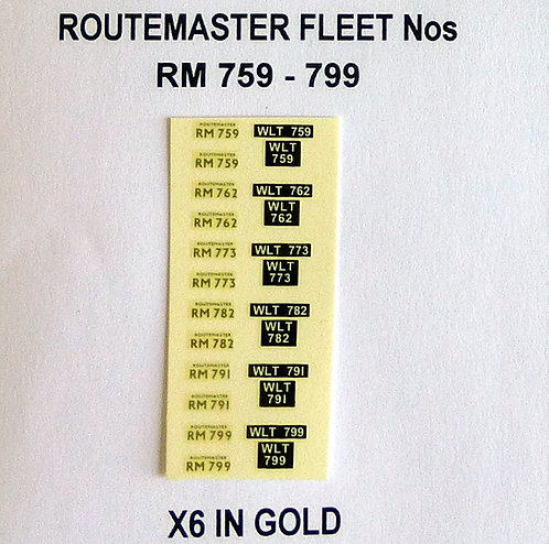 Gold RM 759, 762, 773, 782, 781, 799