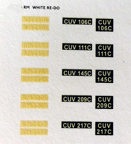 White RM2106, RM2111, RM2145, RM2209, RM2217
