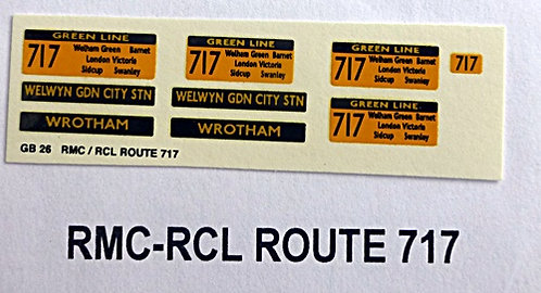 RMC/RCL Green Line Blinds Route 717