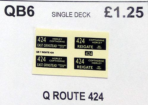 Q S/D Route 424