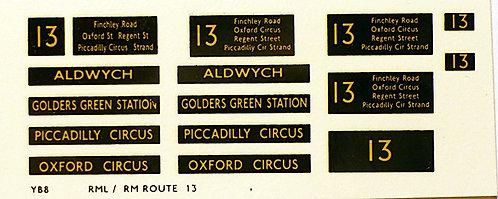 Modern RM/RML  Route 13