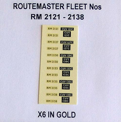 Gold RM 2121, 2127, 2130, 2133, 2135, 2138