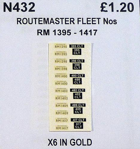 Gold RM 1395, 1398, 1400, 1402, 1409, 1417