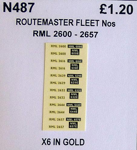 Gold RML 2600, 2616, 2629, 2632, 2644, 2657