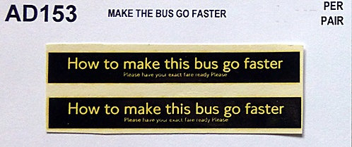 Make The Bus Go Faster