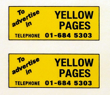 YELLOW PAGES REAR ADVERTS