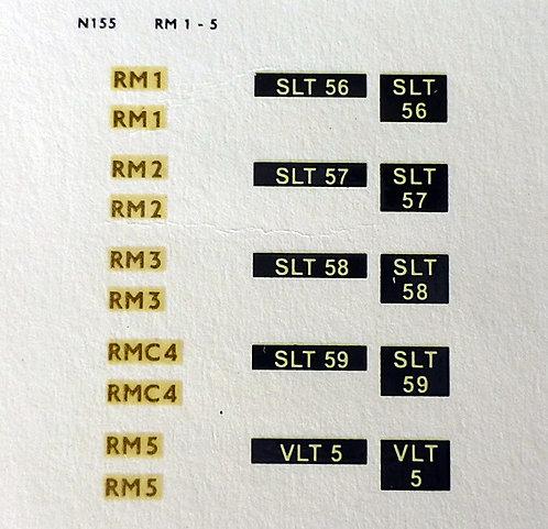 Gold RM1, RM2, RM3, RMC4, RM5