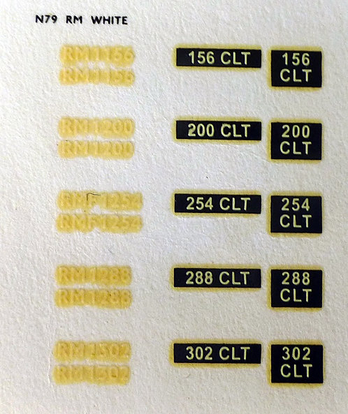 White RM1156, RM1200, RMF1254, RM1288, RM1302