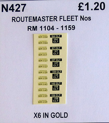 Gold RM 1104, 1117, 1127, 1139, 1145, 1159
