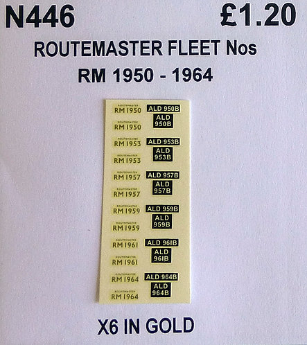 Gold RM 1950, 1953, 1957, 1959, 1961, 1964