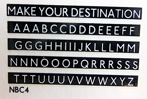 New Destination Letters for L.T. buses